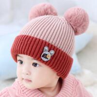 婴儿帽子秋冬0-3-6-12个月男女新生儿保暖帽宝宝毛线帽