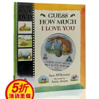 进口英文原版绘本 Guess How Much I Love You 猜猜我有多爱你 书+DVD 廖彩杏书单