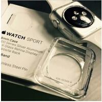 Apple watch4透明壳硅胶套超薄苹果S4手表保护壳watch123保护套软