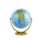 地球仪(20cm地形地球仪-倾角万向旋转金色支架 新课标学生专用)