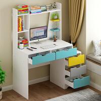 电脑台式桌家用简约经济型书桌书架组合北欧学生卧室桌子写字桌