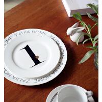 Zaijia一周年限量定制纪念盘,高密度骨瓷字母盘,时尚百搭中西餐!
