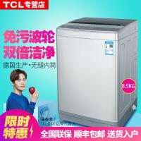 TCL XQBM85-302L 8.5公斤家用全自动波轮洗衣机免污洗可拆洗波轮