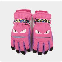 五指儿童手套冬滑雪保暖手套男女童玩雪骑车学生手套