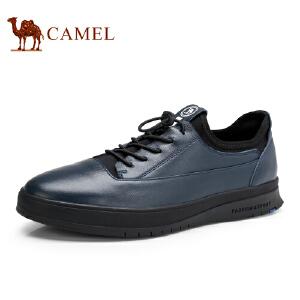 骆驼牌 男鞋 新款男士柔软真皮休闲鞋潮流百搭青年板鞋