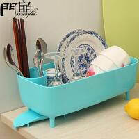 门扉 沥水碗架 厨房用品碗碟沥水架餐具收纳架子厨房角架侧导流碗架碗具盘子沥水蓝子 收纳盒