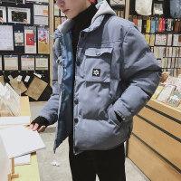 冬季外套男士港风chic上衣韩版潮流工装棉衣青少年连帽棉袄子