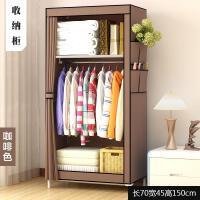 简易组装衣柜 单人衣橱宿舍寝室经济型组装钢管布艺布衣柜收纳柜子抖音同款