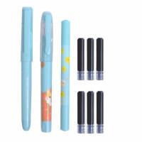 晨光0973可爱学生练字钢笔 商务办公创意签字笔 可换墨囊钢笔套装