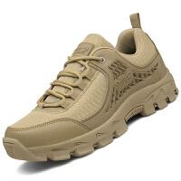 户外沙漠靴作战靴战术靴飞行靴军靴男正品防滑低帮军迷爸爸登山鞋