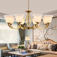 雷士照明 欧式客厅吊灯北欧现代简约全铜卧室餐厅复古