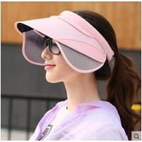大沿防晒防紫外线太阳帽韩版时尚空帽子女夏天遮阳帽顶帽休闲帽女可礼品卡支付