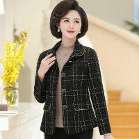 阔太太妈妈洋气外套女秋季韩版风衣中老年人女装春秋短款衣服 XL 103斤以内