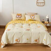 多喜爱新品四件套全棉纯棉卡通床单被套儿童学生宿舍1.8m小柴柴