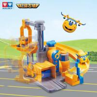 奥迪双钻超级飞侠玩具大号变形机器人全套装小飞侠玩具 大变形包警长 迷你包警长