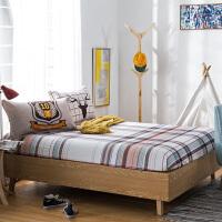 纯棉床笠 单件 全棉床罩 席梦思保护套 1.2 1.5 1.8米床