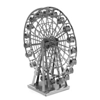 抖音同款3D金属拼装建筑模型纳米立体拼图摩天轮金属拼图玩具减压放松手工