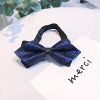伴郎新郎正装西装领结婚礼英伦休闲商务男士韩式蝴蝶结女 蓝色