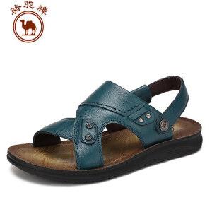骆驼牌男鞋 夏季新款 露趾凉鞋沙滩鞋舒适日常休闲
