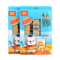 真彩小学生幼儿园蜡笔彩笔文具批发48色油画棒儿童绘画美术用品