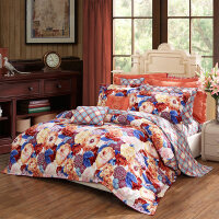秋冬全棉双面磨毛四件套加厚床上用品床单套件纯棉被套