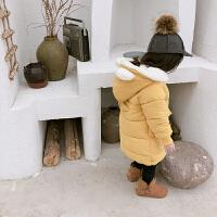 女童棉衣儿童宝宝冬装外套女孩中长款