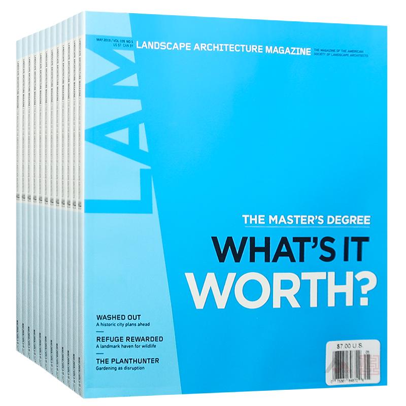 美国 Landscape Architecture MAGZAINE 杂志 订阅2020年 C01 美国景观建筑设计杂志 全年12期 分期寄出 发货短信提醒