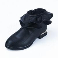 女童靴子秋冬短靴2017新款韩版女童马丁靴中大童公主皮靴儿童靴子