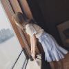 连衣裙夏2017新款镂空蕾丝t恤衫套装女荷叶边半身裙两件套夏装潮
