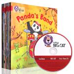 原版进口全英文 Big Cat Red A Band2A 带CD 大猫自然拼读法2 红色套装全14册 4-6岁儿童学习
