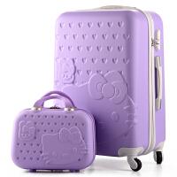 韩版拉杆箱小清新旅行箱女儿童行李箱寸寸寸学生皮箱子母箱 28寸 大容量