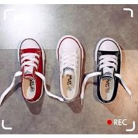 儿童帆布鞋女童鞋子小白鞋男童板鞋宝宝布鞋