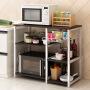 【领券立减20元】环保厨房置物架落地架碗柜微波炉架 收纳储物电器多功能烤箱架