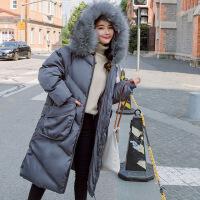 2018新款韩版孕妇冬装加厚中长款棉袄宽松怀孕期大码棉衣外套 灰色 L