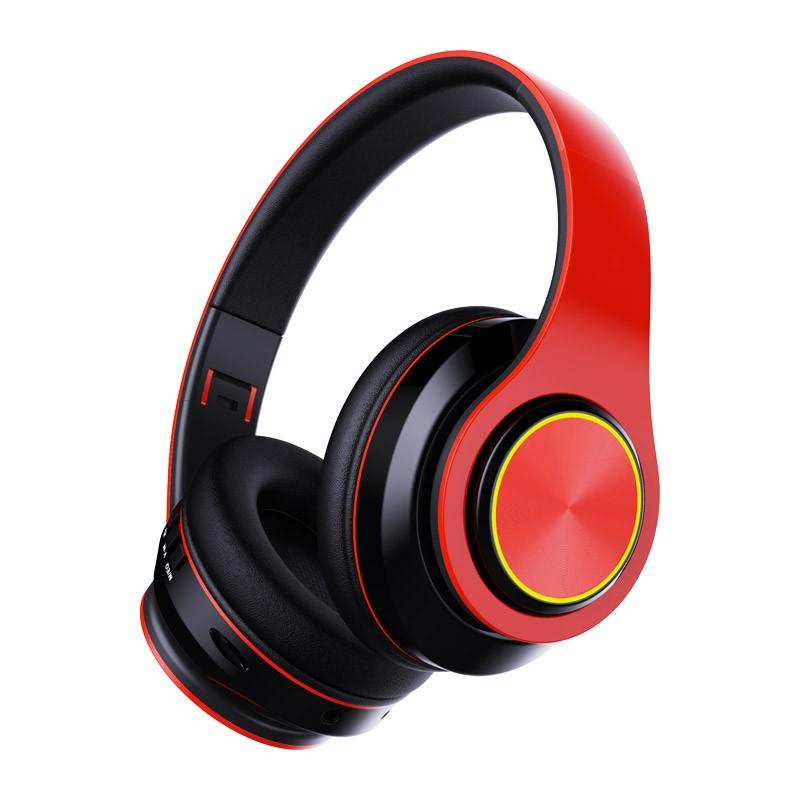 J20 蓝牙耳机真无线(降噪头戴式电脑游戏 电竞吃鸡7.1笔记本 台式带麦克风) 无线蓝牙/可插内存卡/可折叠方便出行