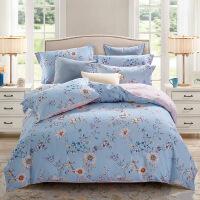 家纺植物花卉全棉纯棉磨毛四件套秋冬保暖加厚床上用品