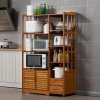 淘之良品厨房置物架子落地微波炉调料不锈钢用品家用大全收纳柜多层