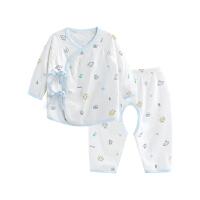 婴儿内衣套装纯棉和尚服新生儿分体睡衣开裆飞行小兔开裆合同套