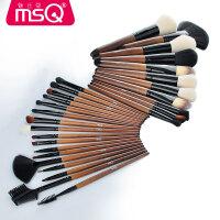 水曲柳28支纤维毛化妆刷套装全套刷子化妆工具 水曲柳 人造纤维