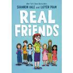 英文原版 真正的朋友 纽伯瑞奖作家 章节桥梁漫画书 Real Friends 学习社交技巧与解决冲突 儿童英语故事 中