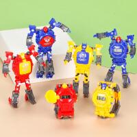儿童变形电子手表创意卡通变身机器人男生男孩多功能