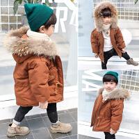 男童冬装宝宝女小童棉袄中长款