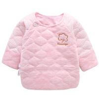 婴儿上衣衣服新生儿春秋宝宝纯棉单件秋衣半背衣内衣0和尚服3个月 52/59码.适合0-3个月