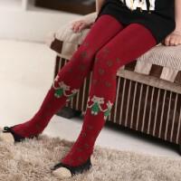 咔米嗒春秋新款加厚儿童连裤袜糖果色舞蹈袜子棉袜女童打底袜