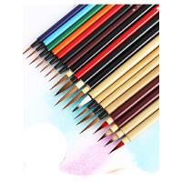 秋宏斋秀意狼毫手工毛笔水彩画笔 漫画手绘勾线笔面相笔抄经幽思 ��翠鸟 行云 半月 月半水彩毛笔画笔