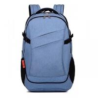 电脑包 双肩电脑包时尚大学生白领商务背包 学生书包多用包 蓝色