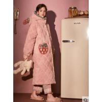 秋冬珊瑚绒冬款女睡衣睡裙睡袍夹棉加厚可外穿家居服女