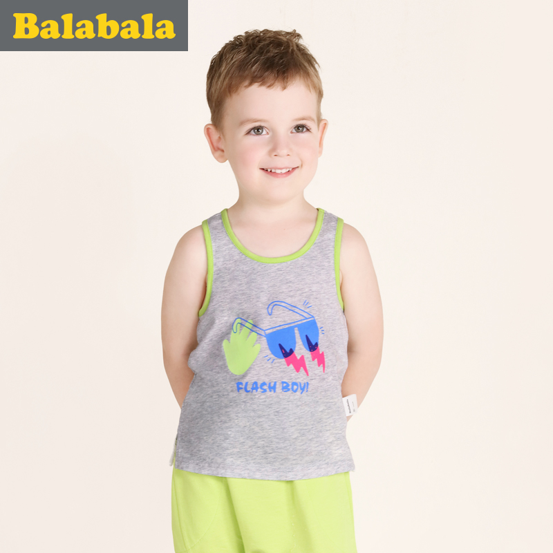 巴拉巴拉童装男童背心幼童宝宝无袖上衣2017夏装新款儿童背心