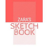 【预订】Zara's Sketchbook: Personalized red sketchbook with nam