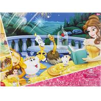 迪士尼拼图 美女与野兽盒装拼图儿童玩具200片装(古部拼图公主女孩)11DF2002709
